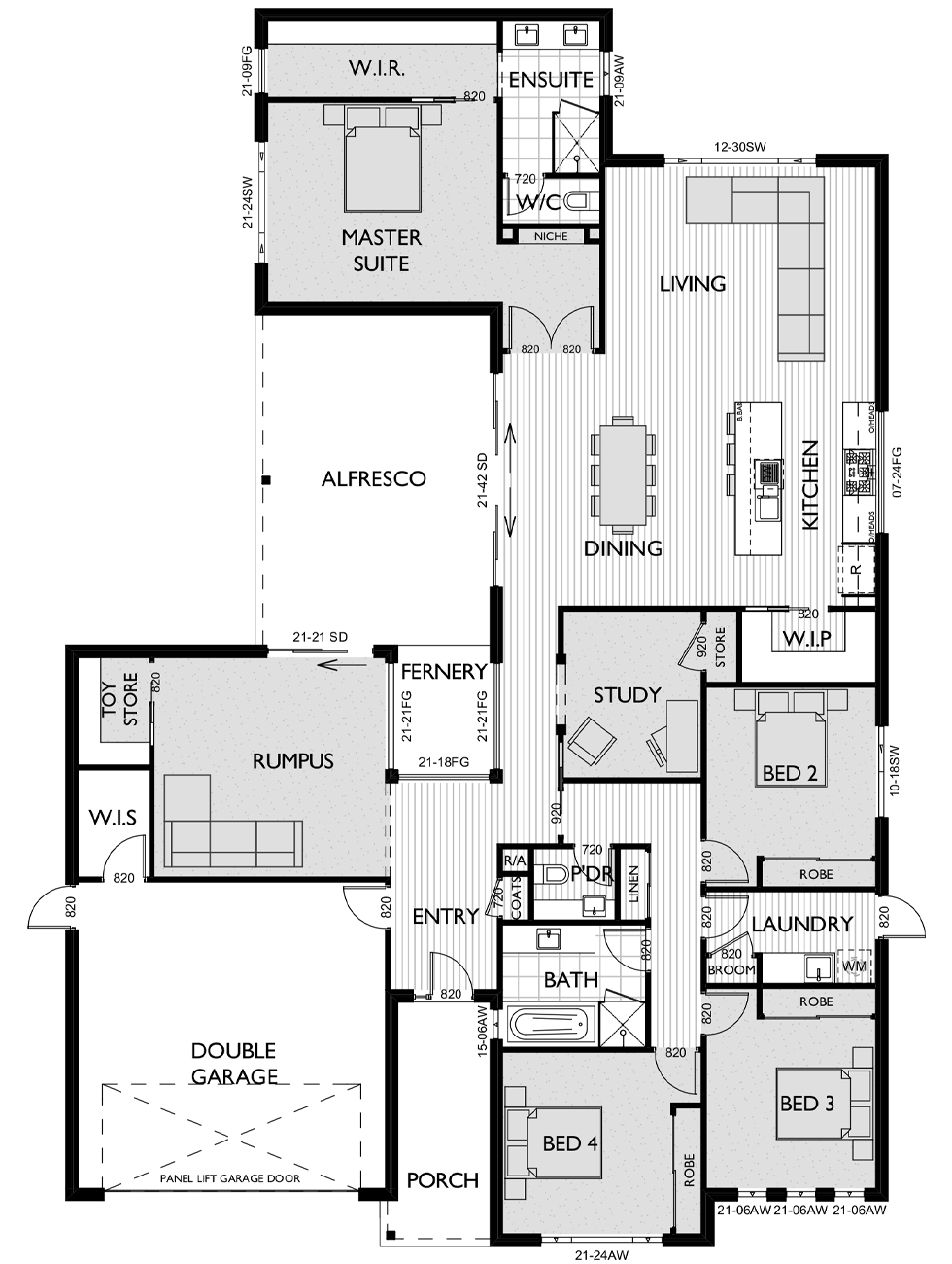 Floor Plan for Virtue Homes Brooklyn 34 family home