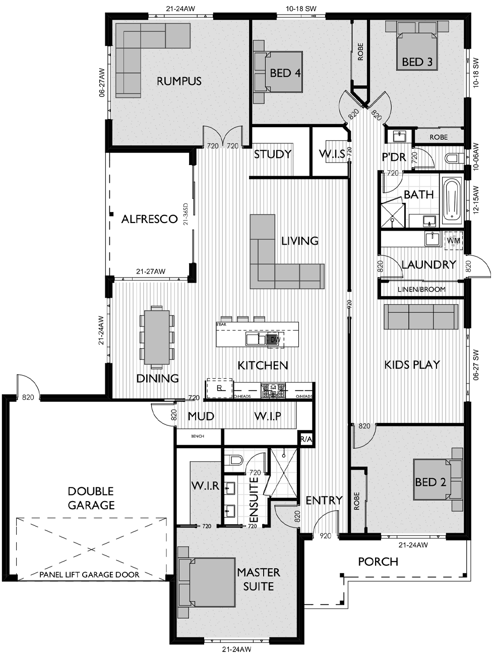Floor Plan for Virtue Homes Cayman 34 family home