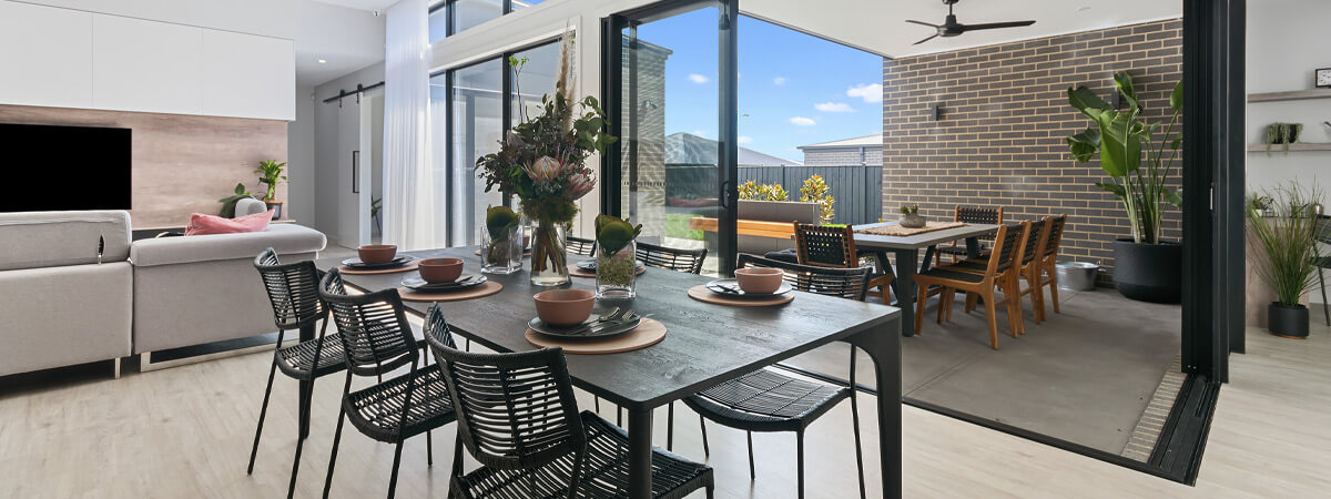 Virtue Homes Display Home Traralgon - indoor outdoor living