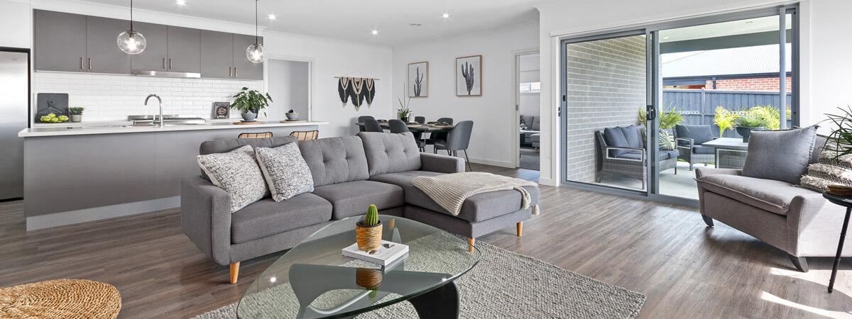 Virtue Homes Display Home Traralgon - family/living room