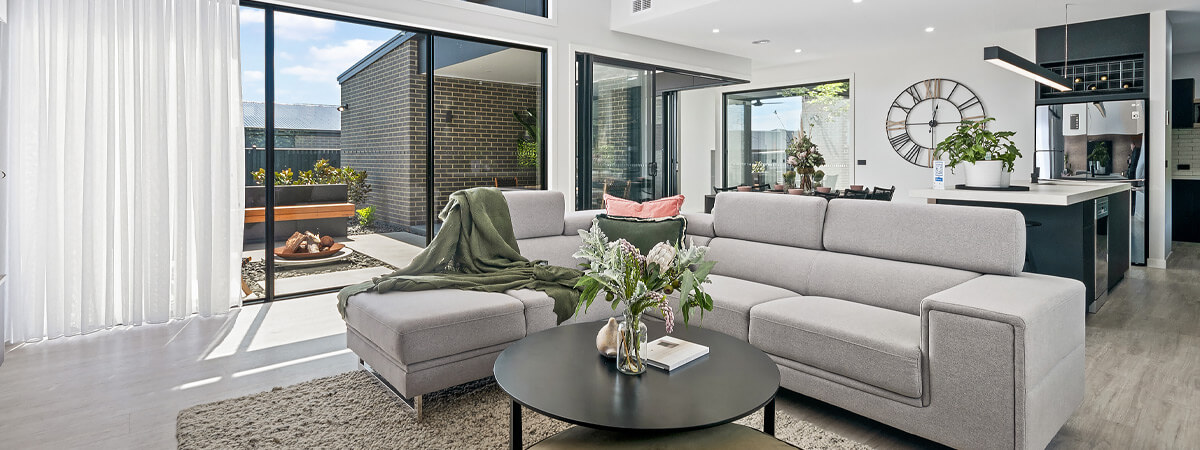 Virtue Homes Display Home Traralgon - family room