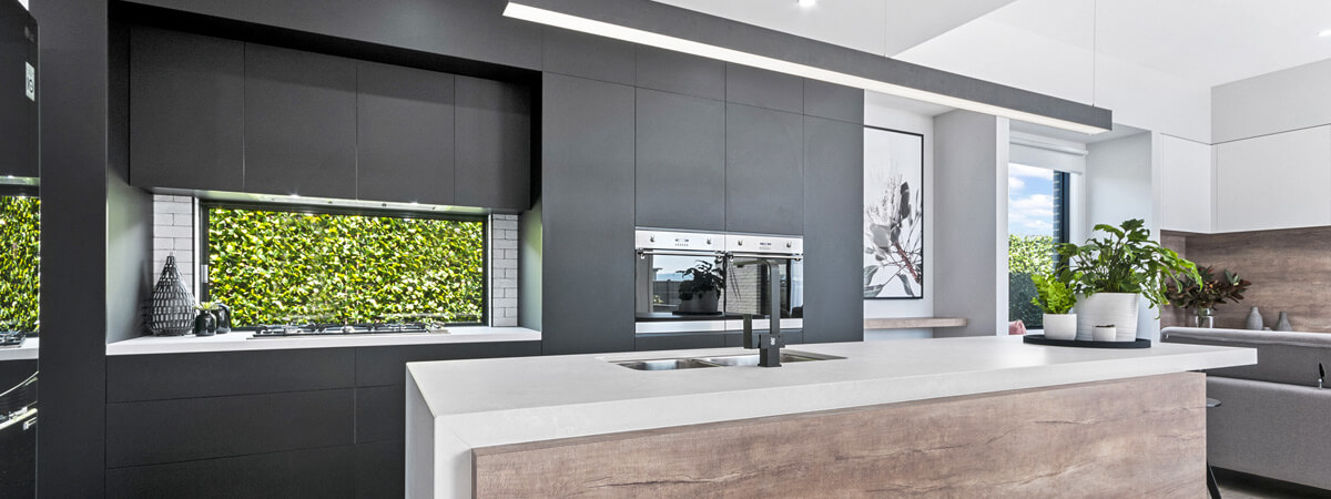 Virtue Homes Display Home Traralgon - industrial kitchen