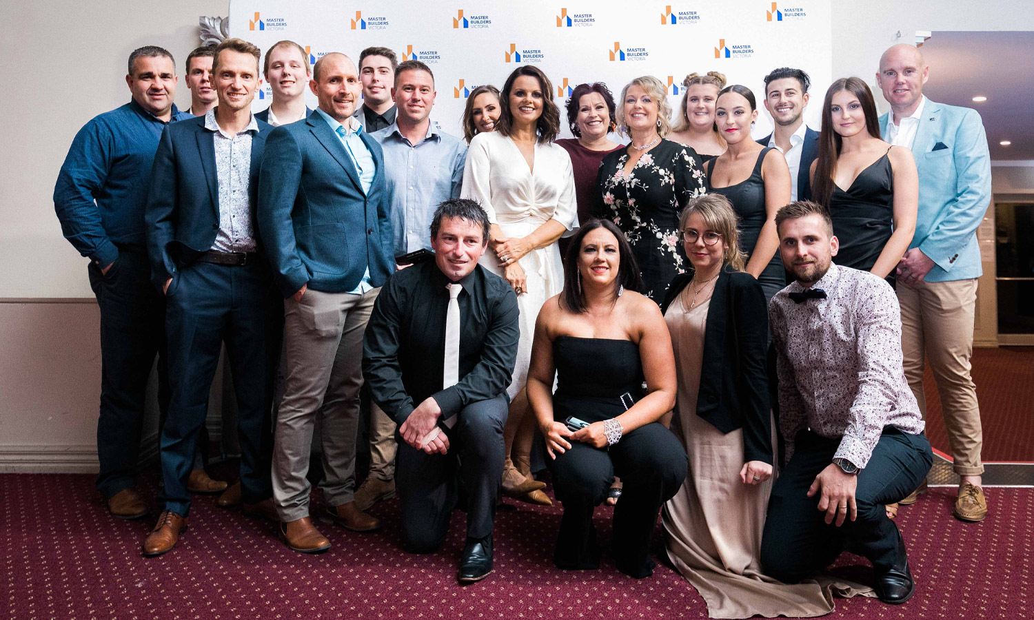Virtue Homes team at the Master builders Awards 2019