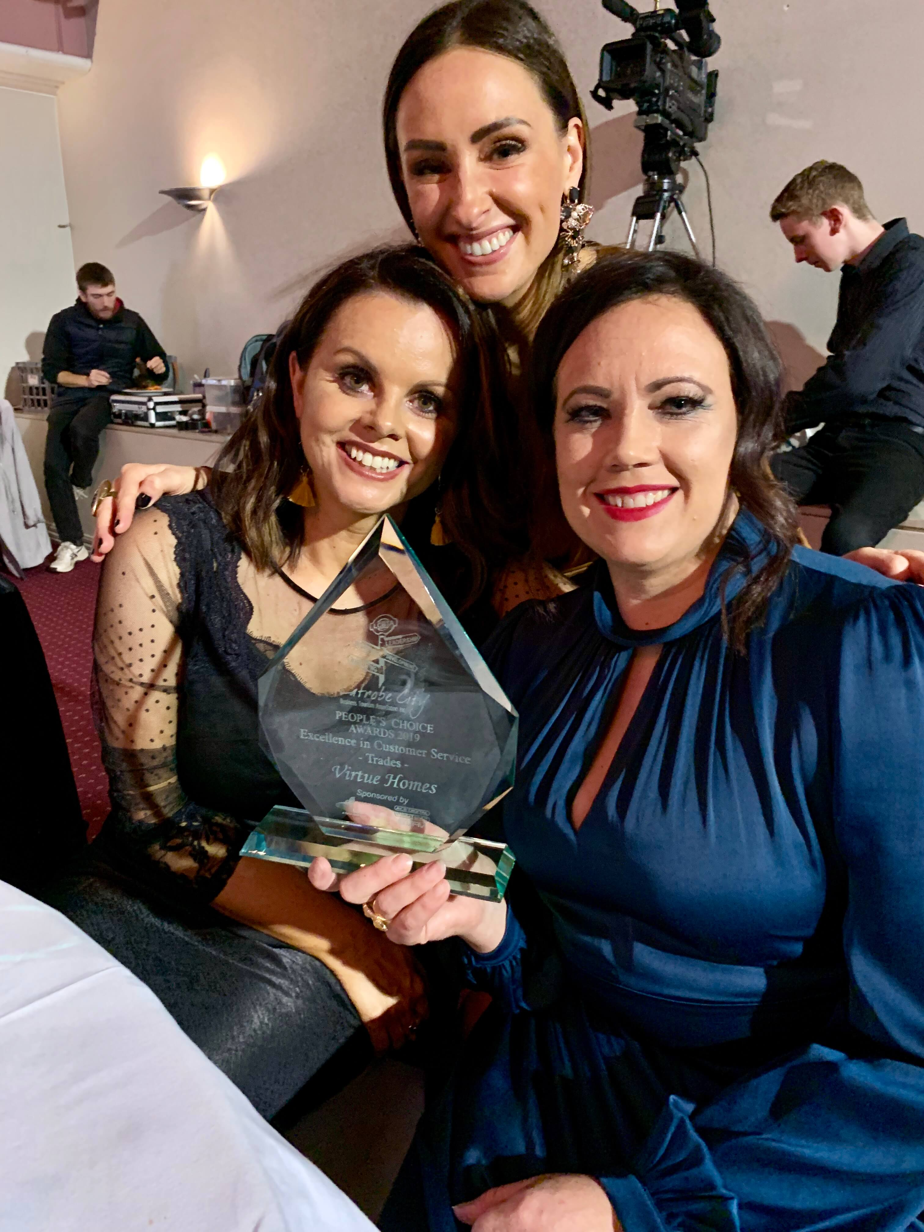 Virtue Homes team at the 2019 LCC People's Choice awards