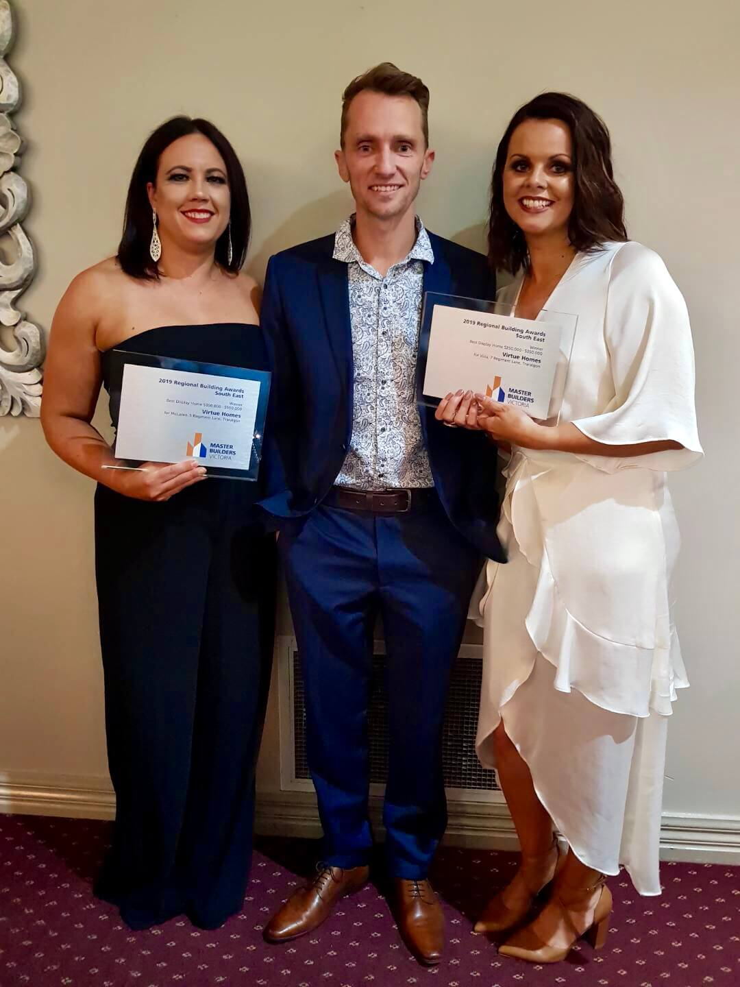 Some of the Virtue Homes team with their Master builders Awards 2019