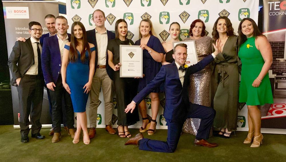 VIrtue Homes team at the HIA awards 2019