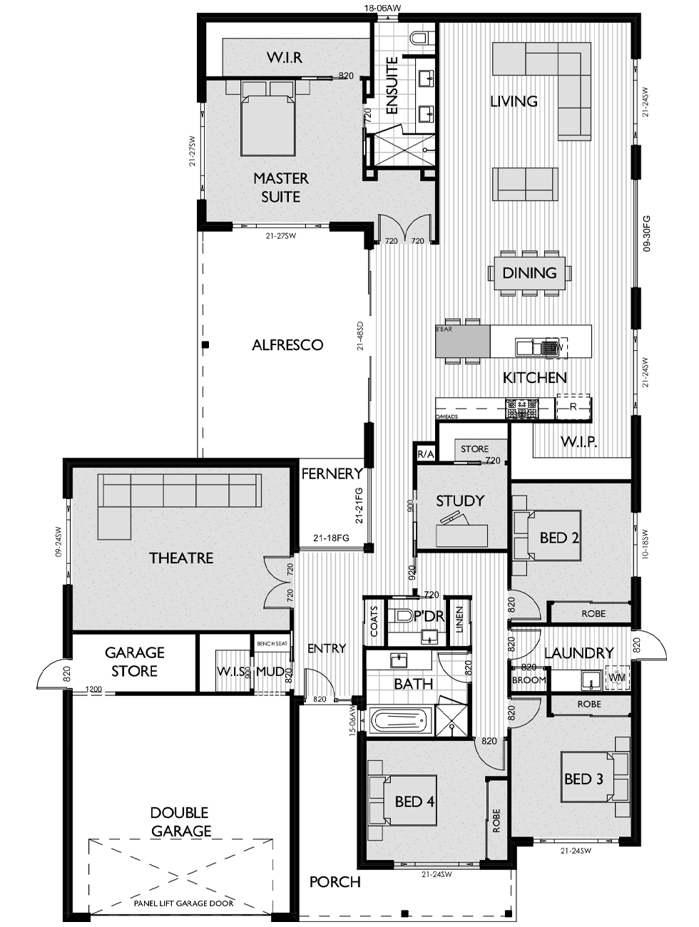Floor Plan for Virtue Homes Brooklyn 36 family home