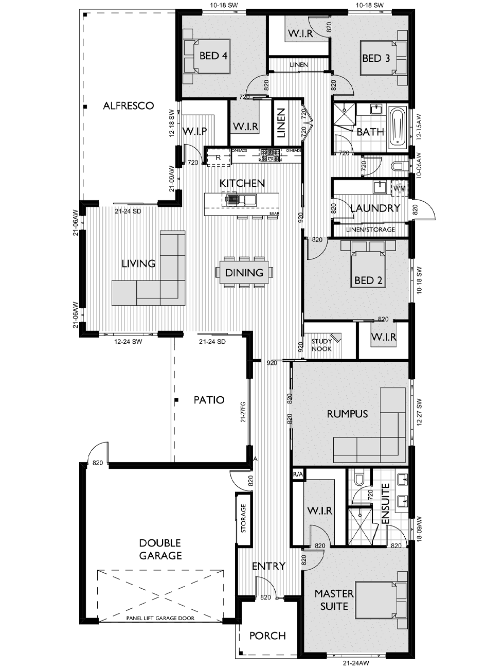 Floor Plan for Virtue Homes Stratton 35 family home
