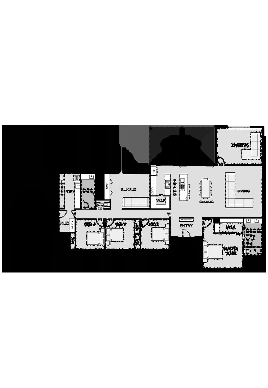 Ranch Style Floor Plan for Virtue Homes Cedar 35 family home