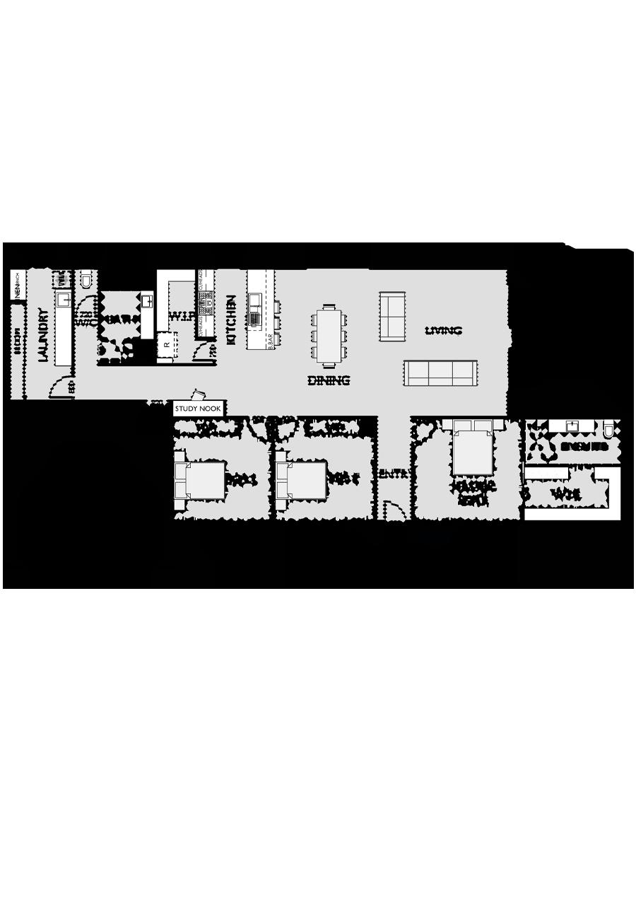 Ranch Style Floor Plan for Virtue Homes Eaglemont 27 family home