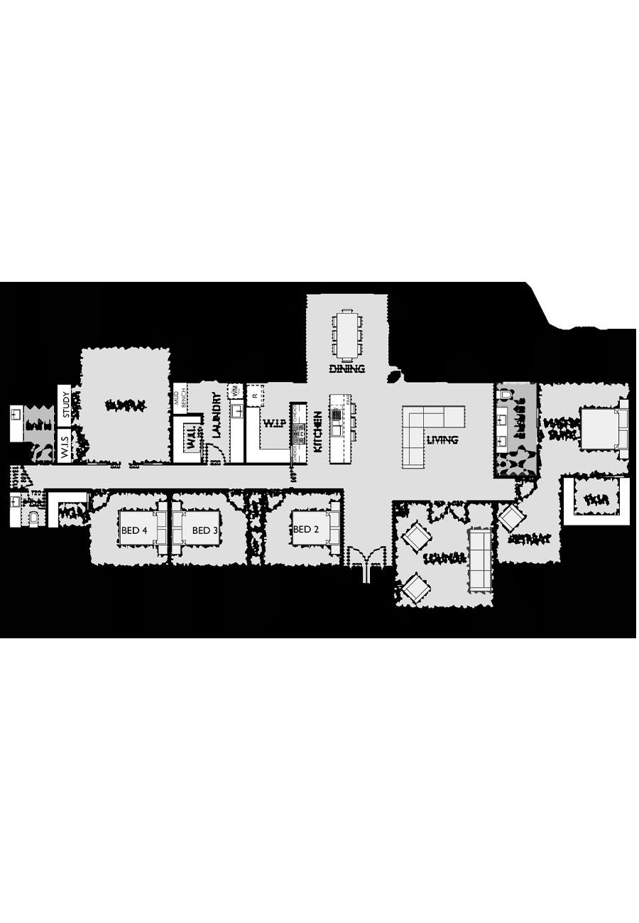 Ranch Style Floor Plan for Virtue Homes Hawksbridge 33 family home