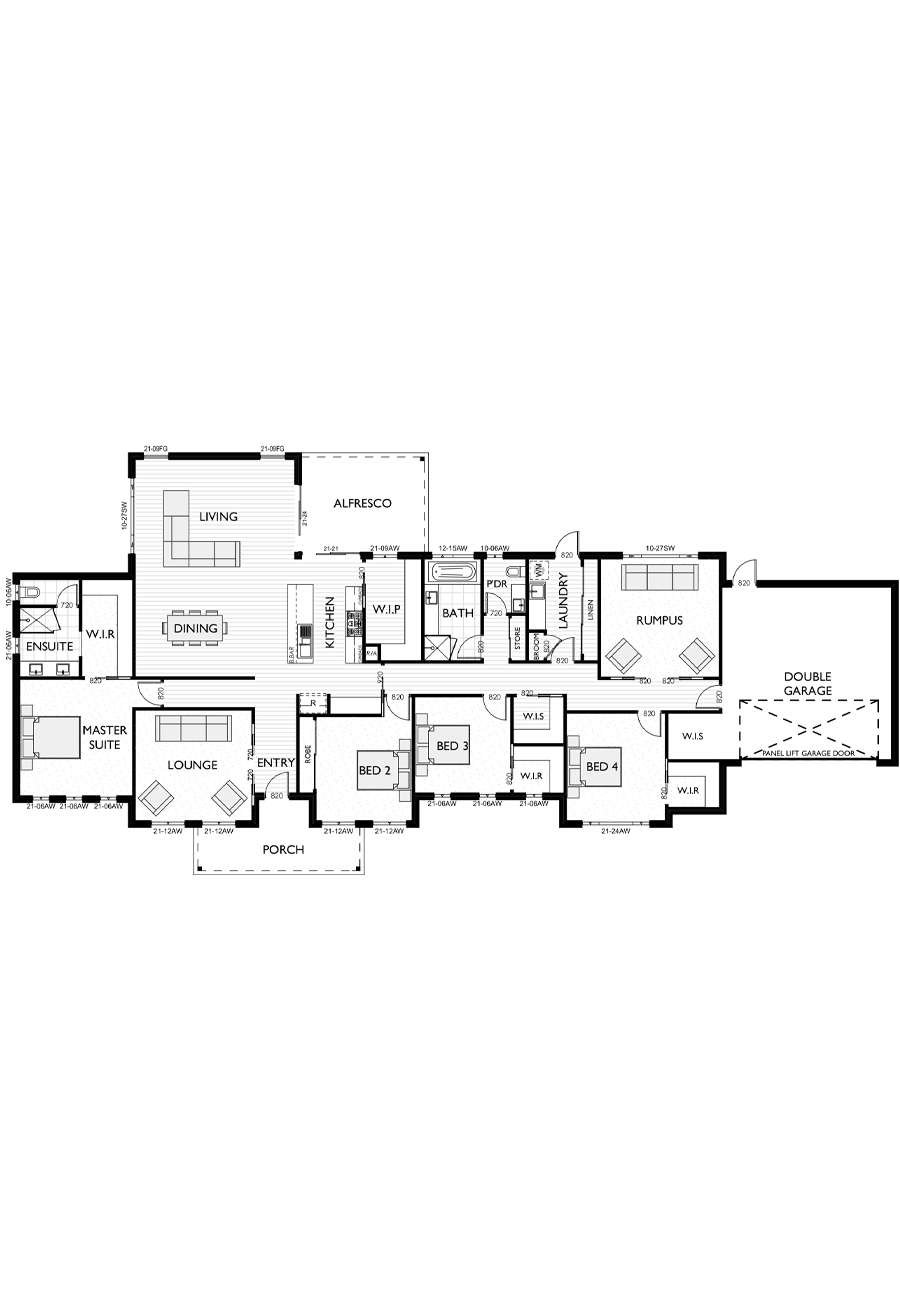 Ranch Style Floor Plan for Virtue Homes Jackson 34 family home