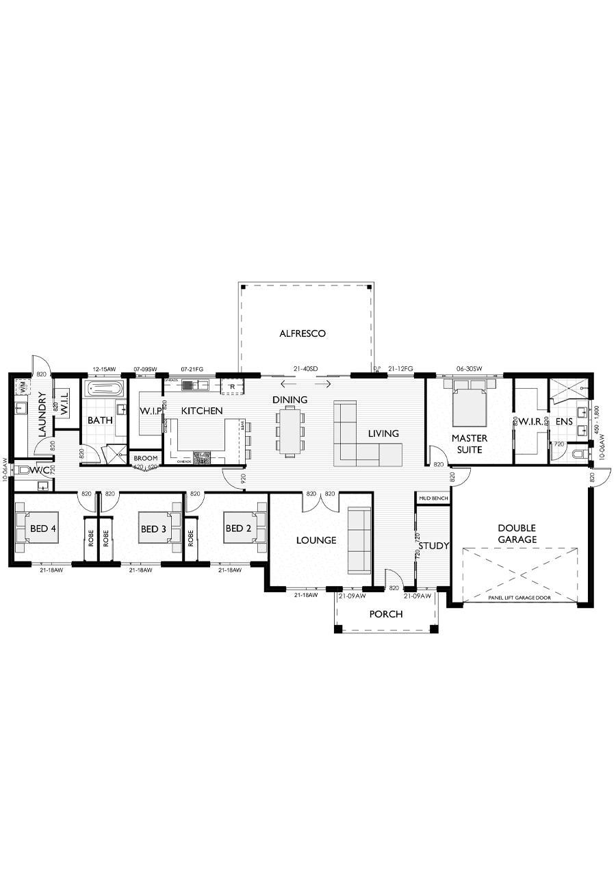 Ranch Style Floor Plan for Virtue Homes Oakley 29 family home