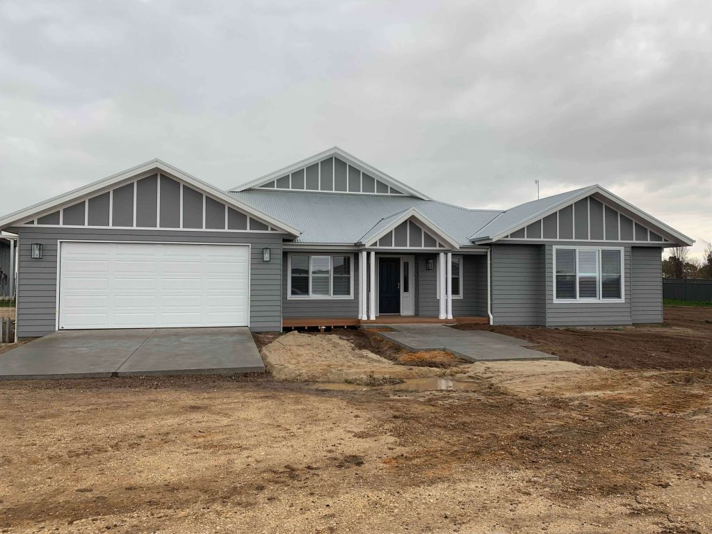 Front view of Ranch Style home by Virtue Homes