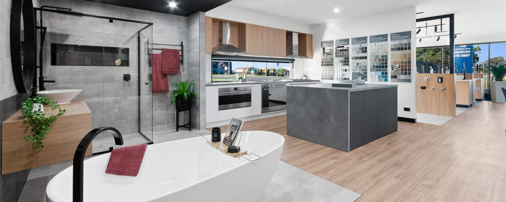 Interior of Virtue Homes showroom in Traralgon