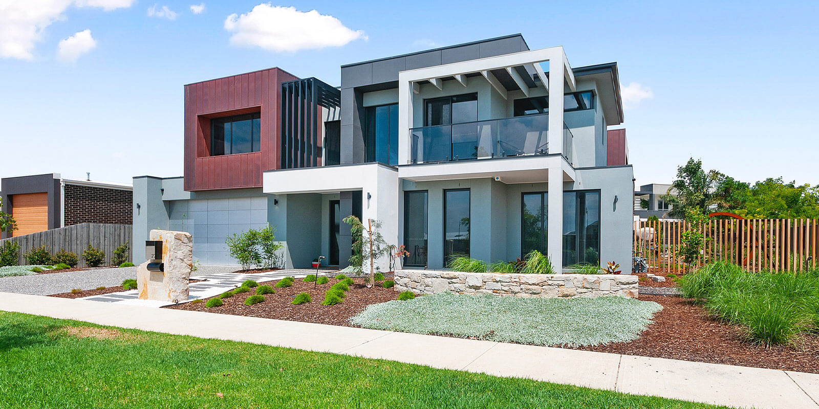Two storey family home built by Virtue Homes