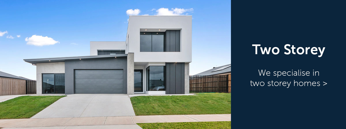 Street view of a two storey home built by Virtue Homes