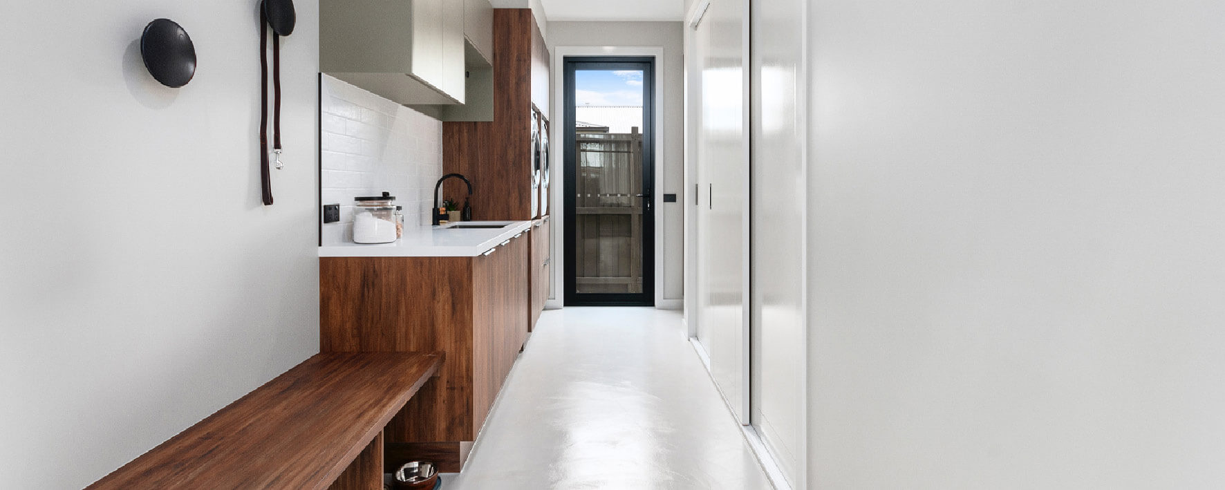 Laundry of Display Home by Virtue Homes