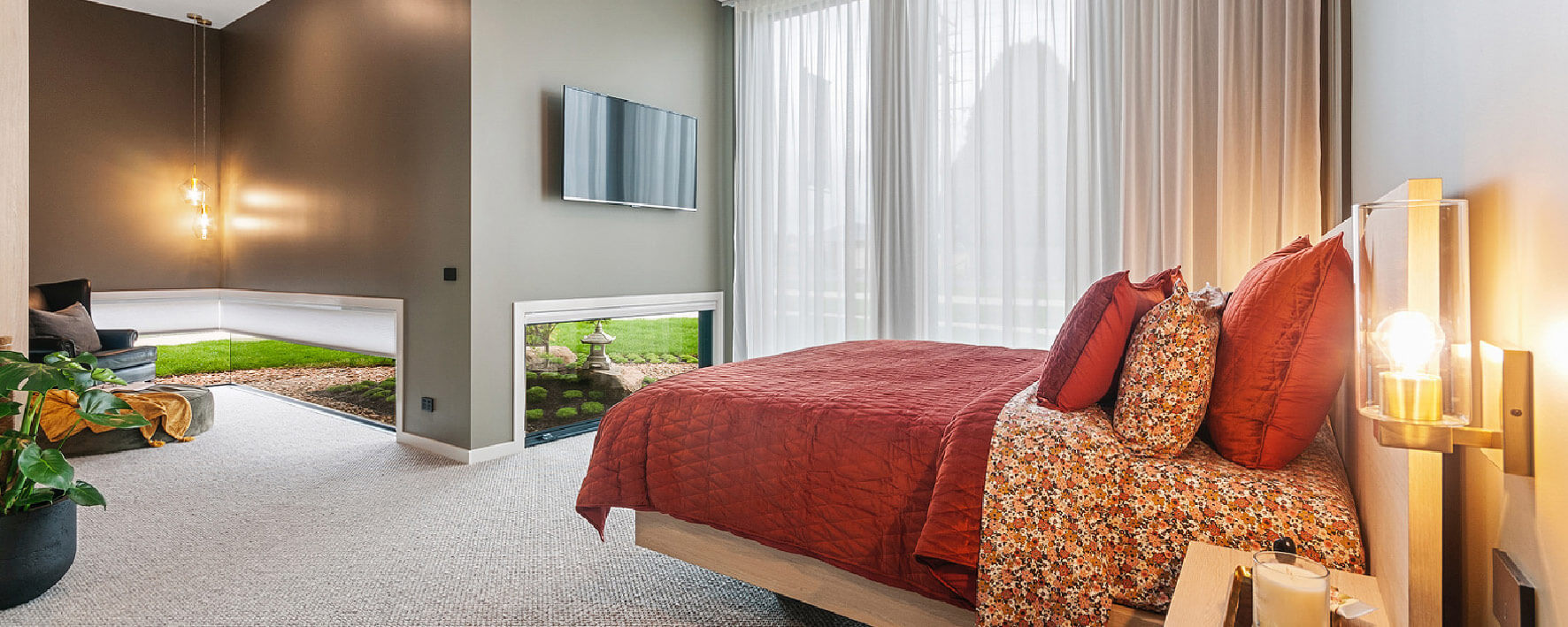 MAster bedroom of Display Home by Virtue Homes