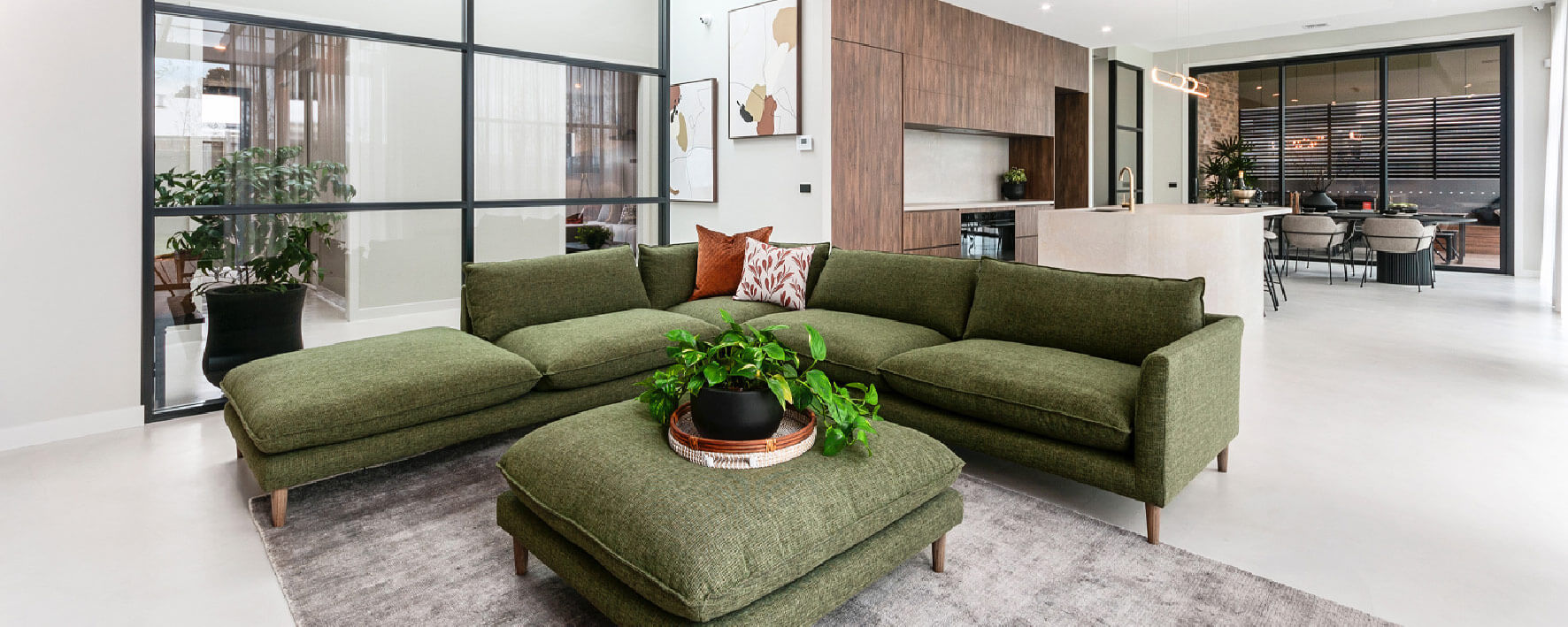 Living room and kitchen of Display Home by Virtue Homes